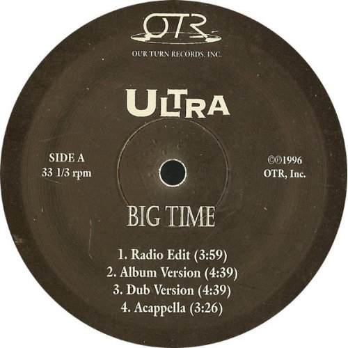 Ultra - Big Time, 12""
