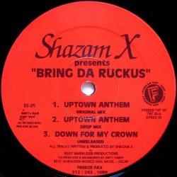 """Shazam X - Bring Da Ruckus, 12"""", EP"""