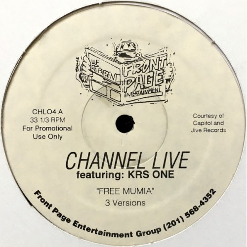 "Channel Live Featuring KRS-One - Free Mumia, 12"", Promo"
