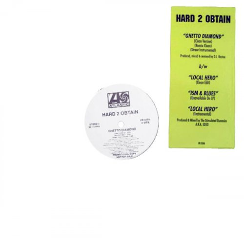 "Hard 2 Obtain - Ghetto Diamond, 12"", Promo"