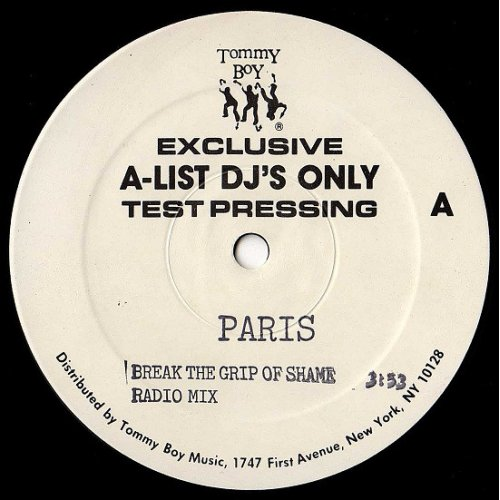 "Paris - Break The Grip Of Shame, 12"", Test Pressing"