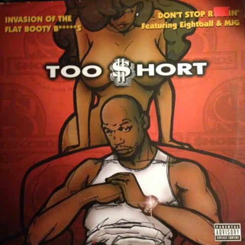 Too Short - Invasion Of The Flat Booty Bitches, 12""