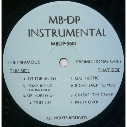 Mobb Deep - The Infamous (Instrumental), LP, Promo