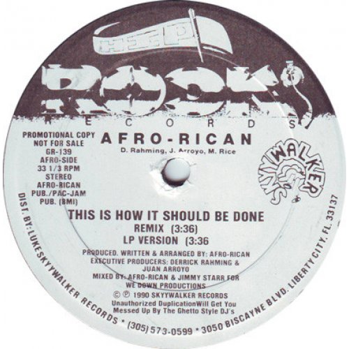 "Afro-Rican - This Is How It Should Be Done, 12"", Promo"