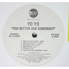 Yo-Yo - You Better Ask Somebody, LP, Promo