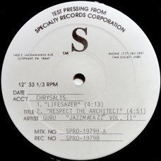 """Guru - Lifesaver / Respect The Architect / Young Ladies / Living In This World, 12"""", EP, Test Pressing"""