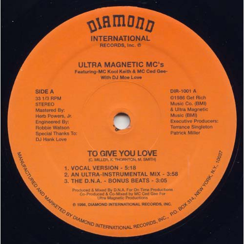 "Ultra Magnetic MC's - To Give You Love / Make You Shake, 12"", Reissue"