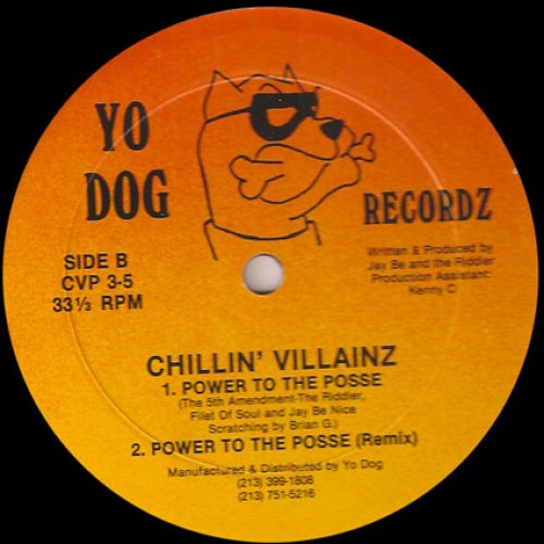The Jammin' Jay Be Nice / Chillin' Villainz - Can U Love A Villain? / Power To The Posse, 12""