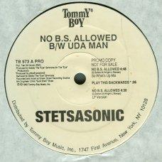 """Stetsasonic - No B.S. Allowed / Uda Man, 12"""", Promo"""