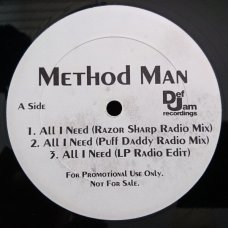"Method Man - All I Need, 12"", Promo"