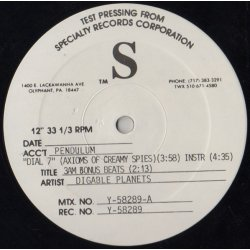 "Digable Planets - Dial 7 / Graffiti, 12"", Test Pressing"
