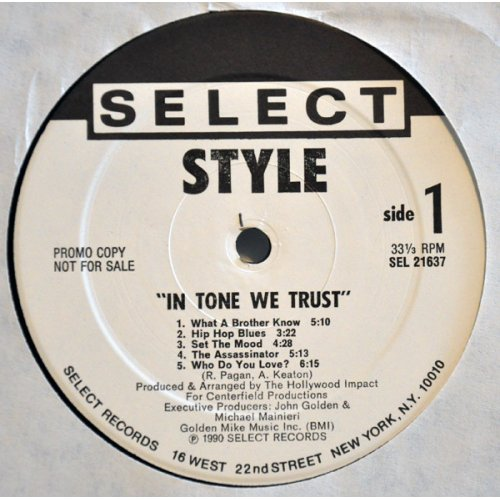 Style - In Tone We Trust, LP, Promo