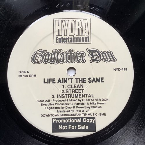 Godfather Don - Life Ain't The Same / On The Other Side, 12""