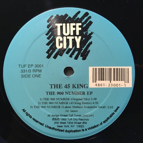 "The 45 King - The 900 Number EP, 12"", EP"