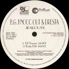 """B.G. Knocc Out & Dresta - Jealousy, 12"""", Promo"""