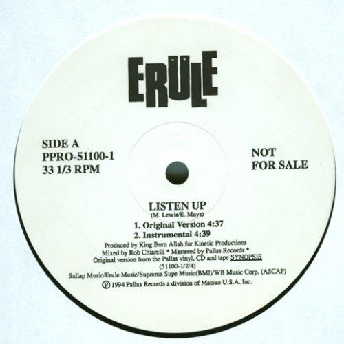 "Erule - Listen Up / Synopsis, 12"", Promo"