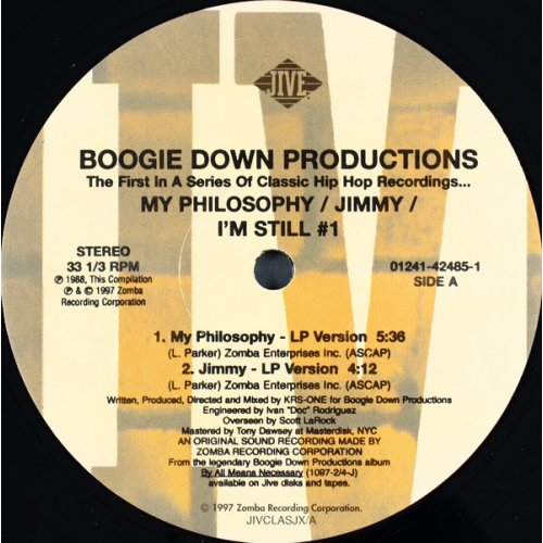 Boogie Down Productions - My Philosophy / Jimmy / I'm Still #1, 12""