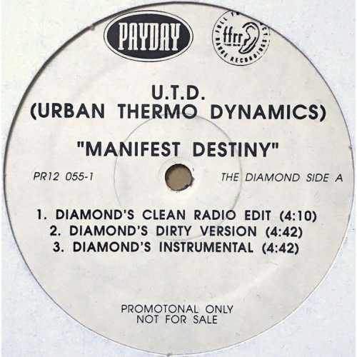 "Urban Thermo Dynamics - Manifest Destiny, 12"", Promo"