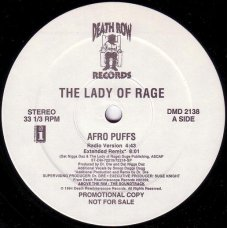 "The Lady Of Rage - Afro Puffs, 12"", Promo"