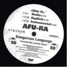 "Afu-Ra - Dangerous Language / Whirlwind 2, 12"""