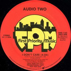 """Audio Two - I Don't Care, 12"""", Promo"""