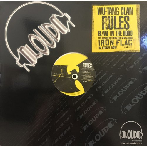 "Wu-Tang Clan - Rules / In The Hood, 12"", Promo"