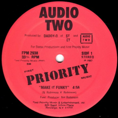 "Audio Two - Make It Funky, 12"", Reissue"