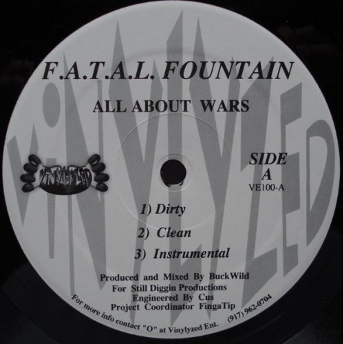 F.A.T.A.L. Fountain - All About Wars, 12""