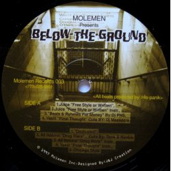 Molemen - Below The Ground, 12""