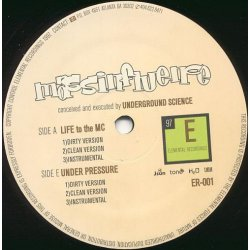 Mass Influence - Life To The MC / Under Pressure, 12""