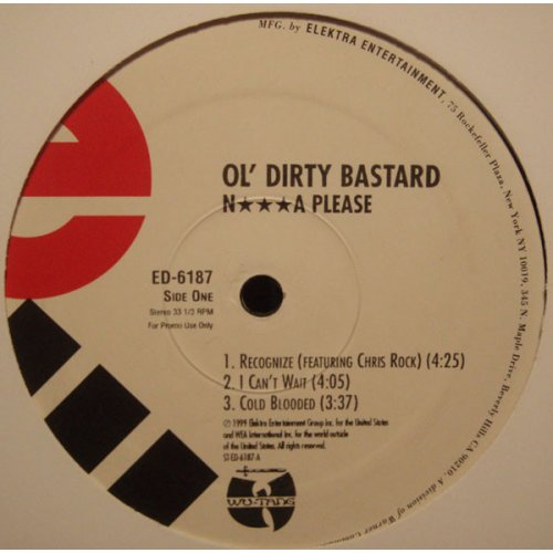 Ol' Dirty Bastard - N***a Please, 2xLP, Promo