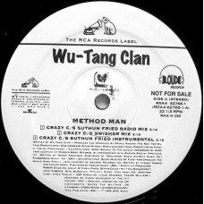 """Wu-Tang Clan - Method Man (Crazy C Remixes), 12"""", Promo"""