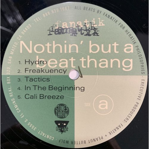 Fanatik - Nothin But A Beat Thang, LP