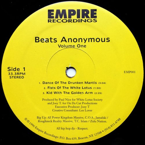 Paul Nice & Joey T. - Beats Anonymous Volume One, 12""