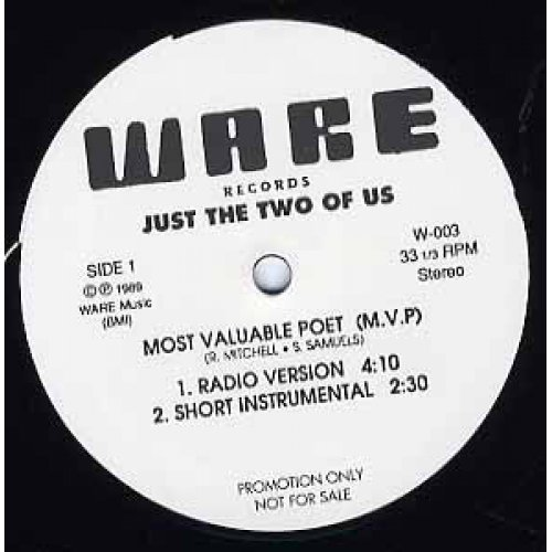 """Just The Two Of Us - Most Valuable Poet (M.V.P), 12"""", Promo"""
