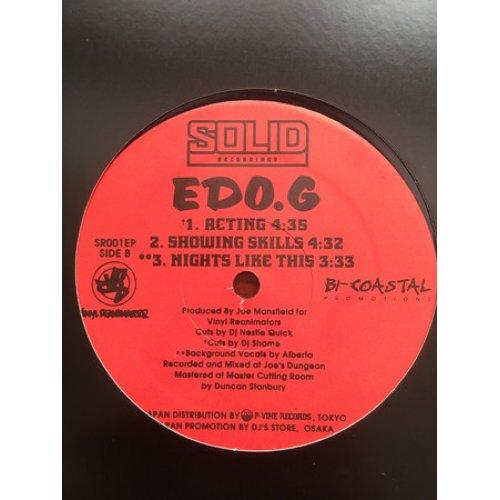 "Edo.G - Dedicated / Acting, 12"", Promo"