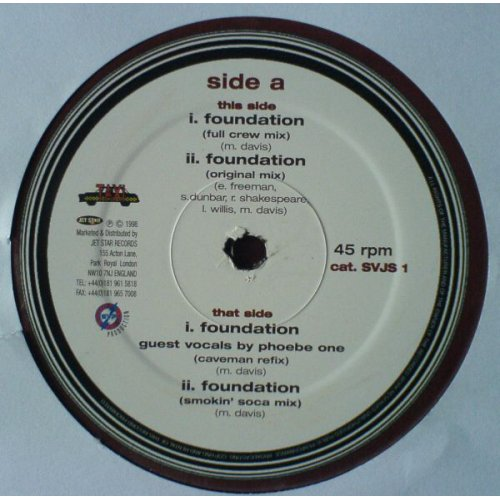 """Beenie Man & The Taxi Gang - Foundation, 12"""""""