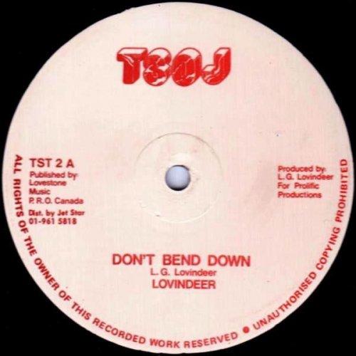"""Lovindeer - Don't Bend Down / Lickshot Man, 12"""""""