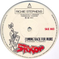 """Richie Stephens - Coming Back For More, 12"""""""