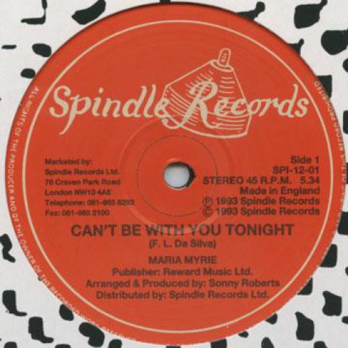 """Maria Myrie - Can't Be With You Tonight / Version, 12"""""""
