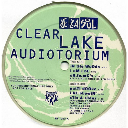 "De La Soul - Clear Lake Audiotorium, 12"", EP, Promo"