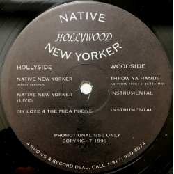 "Hollywood - Native New Yorker, 12"", Promo"