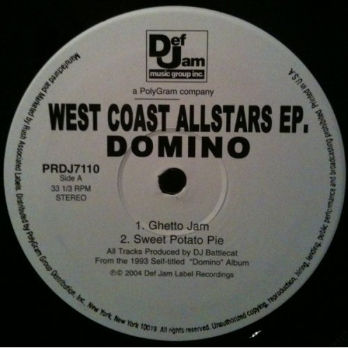 "Domino / Warren G - West Coast Allstars EP, 12"", EP"