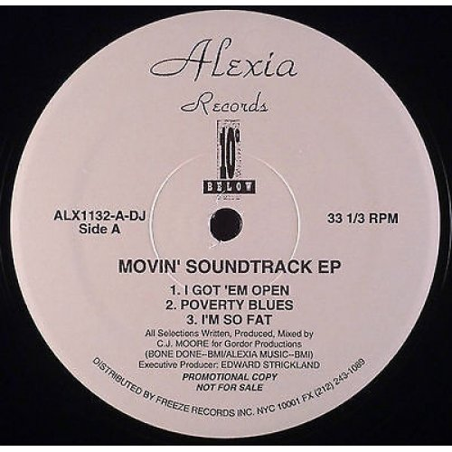 "10 Degrees Below - Movin' Soundtrack EP, 12"", EP, Promo"