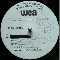 "Stone River - It's Over Now, 12"", Test Pressing"