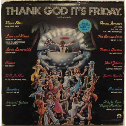 Various - Thank God It's Friday (The Original Motion Picture Soundtrack), 2xLP + 12""