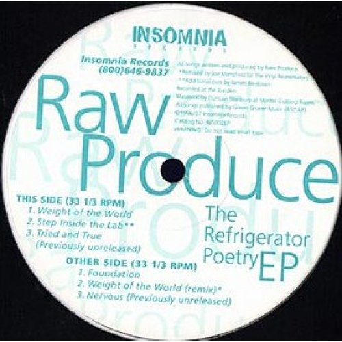 """Raw Produce - The Refrigerator Poetry EP, 12"""", EP"""