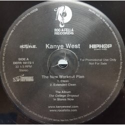 """Kanye West - The New Workout Plan, 12"""", Promo"""