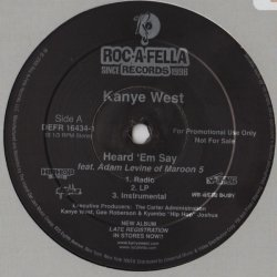 """Kanye West - Heard 'Em Say / Touch The Sky, 12"""", Promo"""