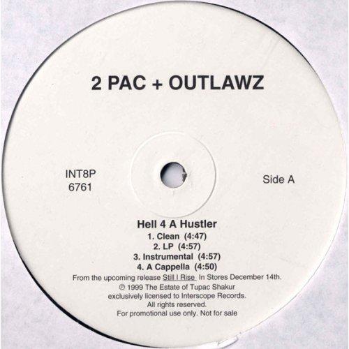 "2Pac & Outlawz - Hell 4 A Hustler / Homeboyz, 12"", Promo"